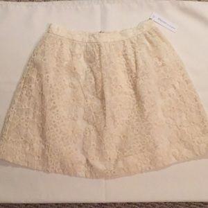 Rhyme Cream Embossed Skirt